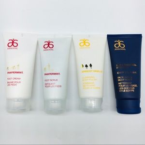 4 Arbonne Travel Size Lot Foot Scrub Lotion RE9